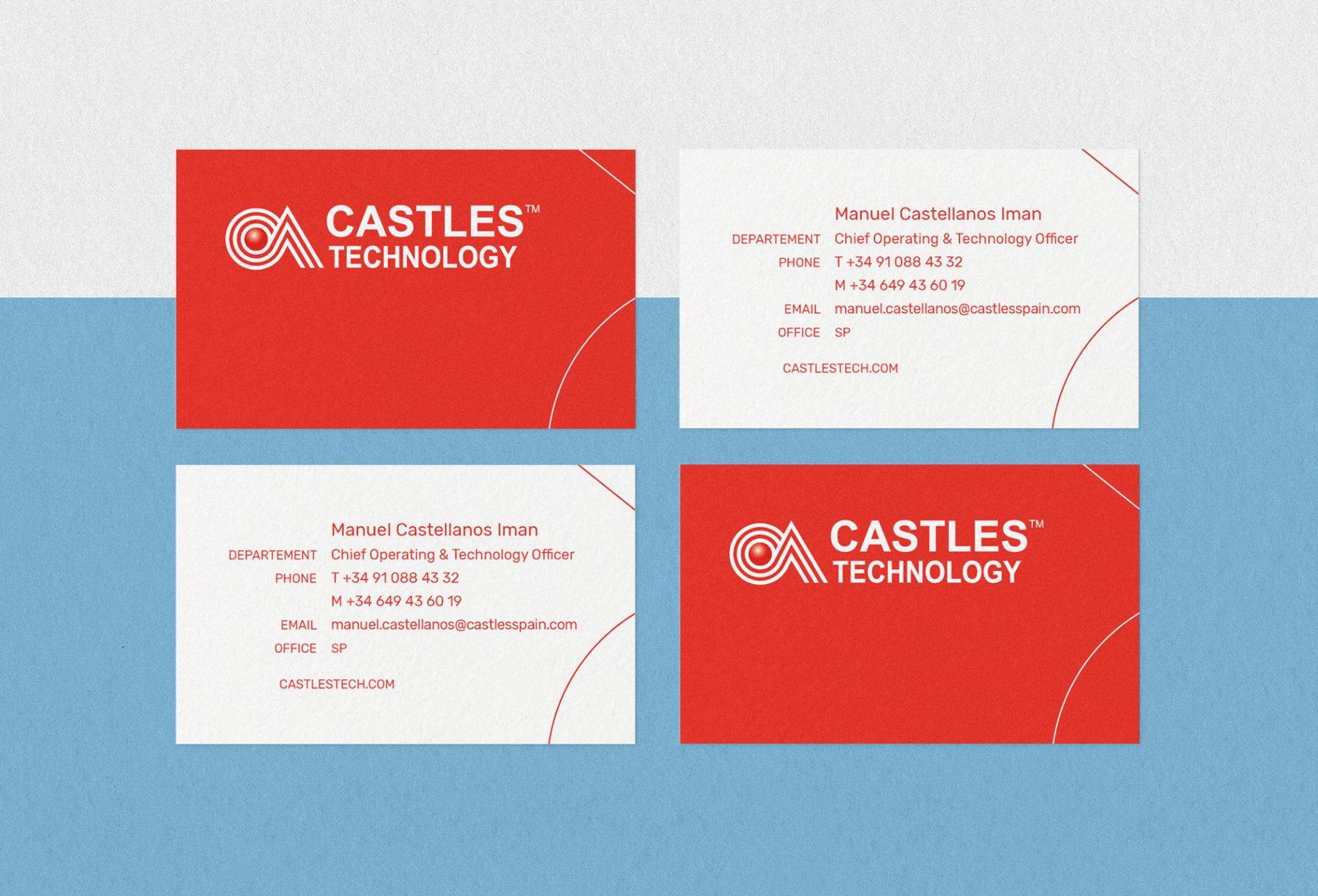 carte de visite mise en page castles