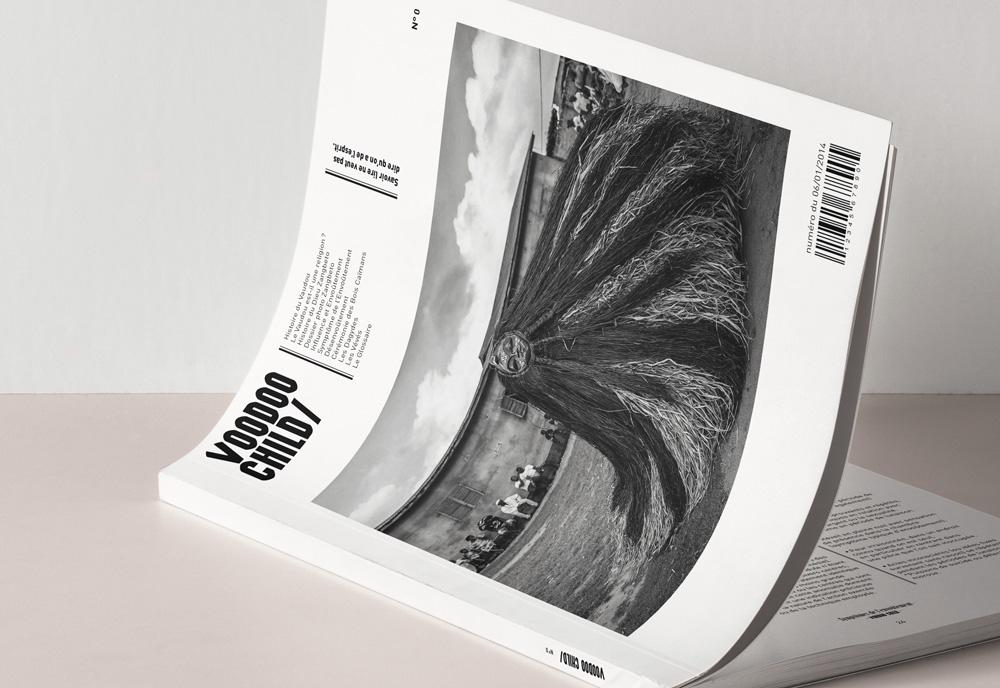 design éditorial couverture magazine voodoo child